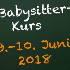 Babysitter – Kurs vom 9. – 10. Juni 2018 mit DRK-Babysitter-Zertifikat